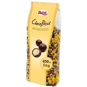 Zaini Cioco Bisco, CiocoBisco Mürbeteig Kekse umhüllt von Vollmilchschokolade 1000 g = 450 Stück.
