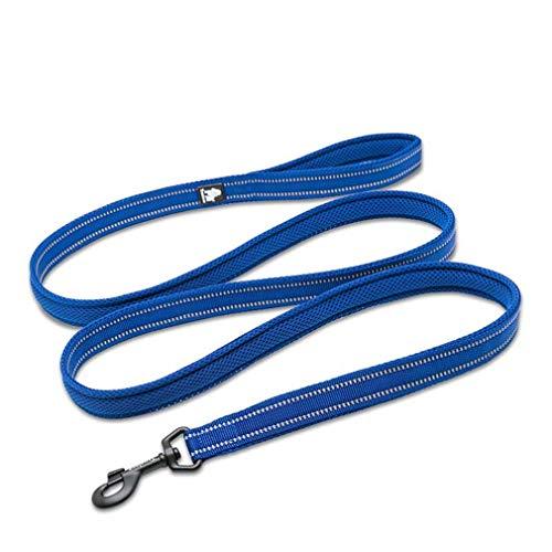 �llter Maschen-Hundeleine-reflektierender Nylon-gehender Trainings-Hund führt Laufenden Hund-Haustier-Leine 110Cm führen royal Blue L 3.0cmX110cm ()