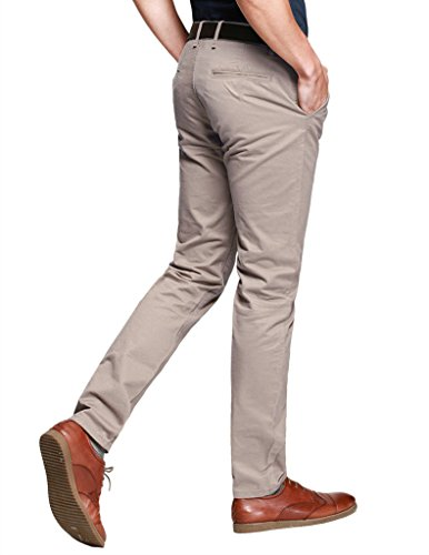 Match Pantalons Casual Slim Tapered pour Homme #8025 Pale Pinkish