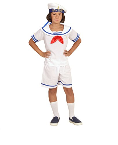 KINDERKOSTÜM - RETRO SAILOR - Größe 140 cm ( 8-10 Jahre ), Unisex Matrose Hafenfest Berufe Uniformen (Jugendliche Sailor Für Kostüme)