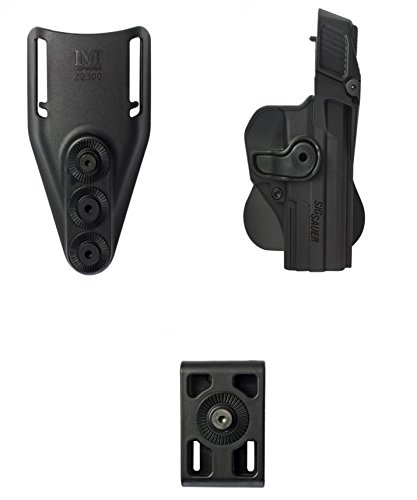 IMI Defense Z1390 SIG Sauer Level-3 Tactical Retention Holster + Low Ride Belt Loop + Belt Attachment -