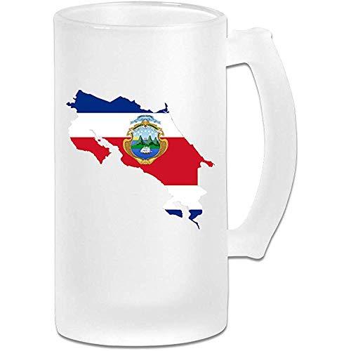 Costa Rica-Flaggen-mattierte Bierkrüge-Trommel-Bier-Schale 16 Unze / 500ml Wasser-Glas