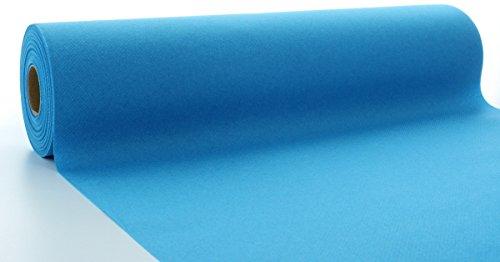 Sovie HORECA Linclass® Airlaid Tischläufer 40 cm x 24 m / Tischdecken-Rolle stoffähnlich / praktische Einmal-Tischdecke für Hochzeit oder Partys / Aqua-Blau (Blauer Stoff Tischdecke)