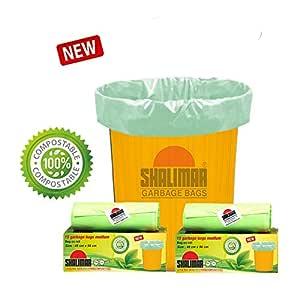 Shalimar Compostable/Biodegradable Garbage/Trash/Dustbin Bag, Medium Size 48 x 56 cm 3 Rolls, 45 Bags (Green)