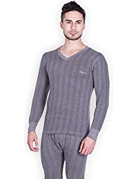 STC Lux Cottswool Mens Cotton Thermal Top (Inferno_CH_FS_VN_85_Charcoal Melange_Medium)