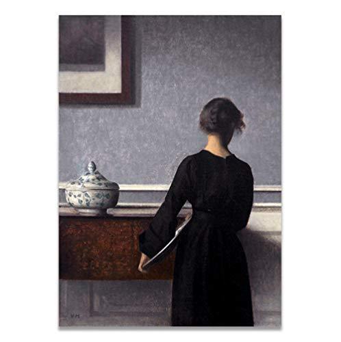 shiyusheng Klassischen europäischen Stil Zimmer der christlichen Frauen Poster und Drucke Leinwand Gemälde Kunst 60x80cm