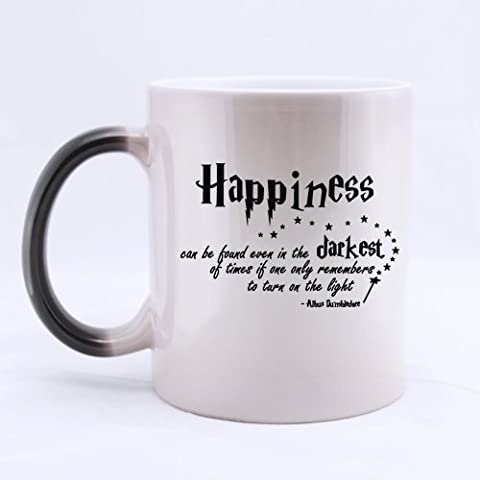 Custom Harry Potter Coffee Mug, Happiness can be found even in the darkest of times if one only remembers to turn on the light by JIJIDA
