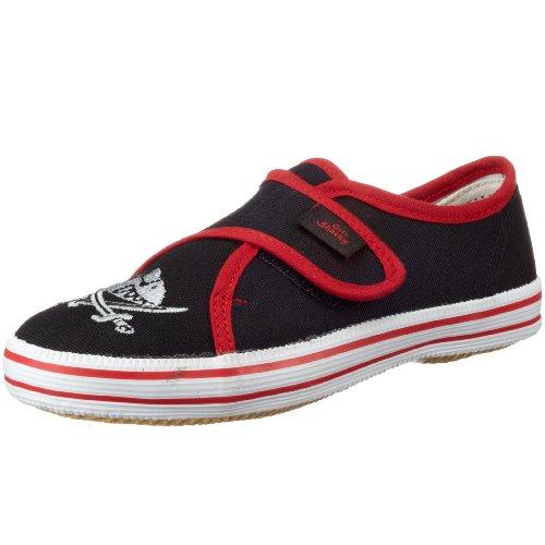 Capt'n Sharky 140006, Jungen Gymnastikschuhe, Schwarz (schwarz/rot), 29 EU
