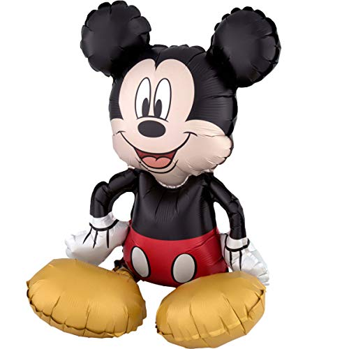 Amscan 3818501 Folienballon Sitter Micky Maus, Folie, Mehrfarbig