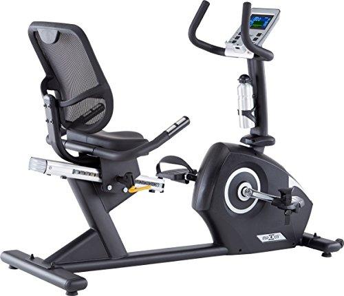 Recumbent Ergometer MAXXUS Bike 4.2R mit extra tiefem Einstieg. Trainingsprogramme, HRC-Programm, Smartphone-Tablet-Halterung, robuste Bauweise, Netz-Rückenlehne für optimalen Sitzkomfort und Belüftung des Rückens. Elektr. gesteuertes Magnetbremssystem.