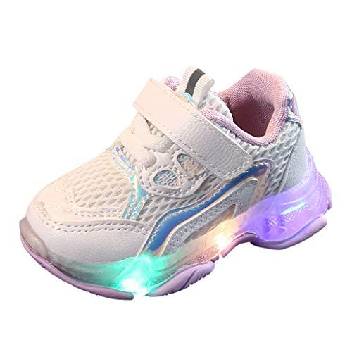 LianMengMVP Scarpe Bambino con Luci Eleganti Scarpe per Bambini Ragazzi Sneakers Ragazze Traspirante Scarpe per Bambini E Ragazzi Sneakers Bimba Luci Scarpe da Running Fitness