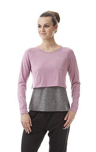 Nord Blanc de yoga manches longues femme Just Multicolore - balmy pink/Grau