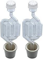 Twin Bubble Airlock and Carboy Bung (Set of 2)