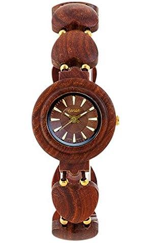 Montre en bois Tense pour femme Maria Premium l7007r-BR–Naturel Bois de Rose l7007r de Br