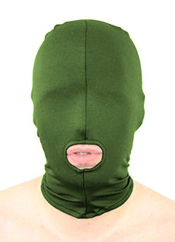 howriis Unisex Lycra Spandex öffnen den Mund Zentai Kapuze Maske Gr. Für Erwachsene, Army ()