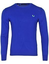 Fred Perry Pullover Herren Blau Baumwolle Casual XL