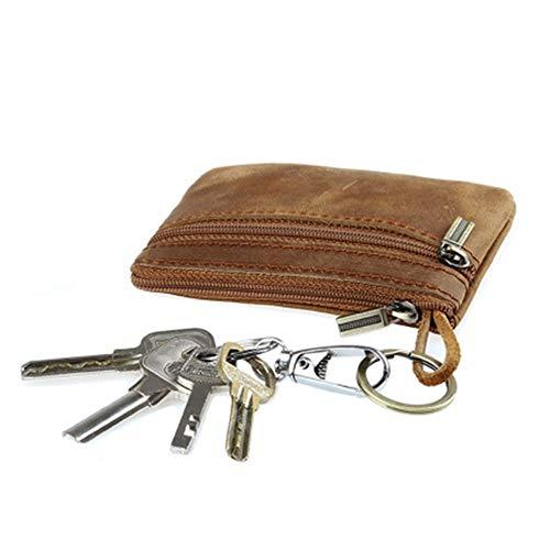 Key Wallets Damen Herren Slim Key Geldbörse Reißverschluss Um Geldbörse Feste Unisex, Braun -