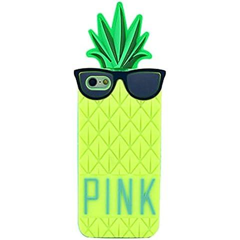 NightKid custodia Occhialuto ananas frutta divertente design morbido silicone (iPhone