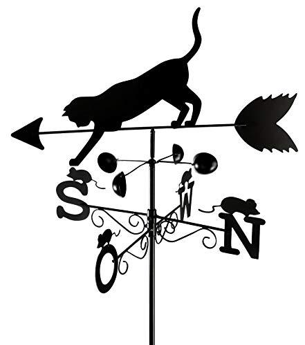 Wenko Wetterfahne Katze Wetterhahn, schwarz, 40x50x170 cm, 8168900