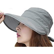 Verano Sol Visera Sombrero Protección Solar Sombrero Gorra anti-UV rayos sol  sombrero grande Brim d7510a189e8