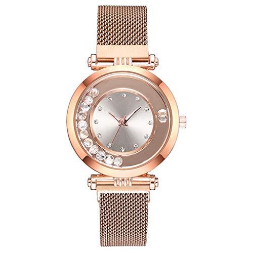 XZDCDJ Damen Armbanduhr Fashion Romantic Luxury Universe Dark Blue Star Belt Watch Ladies Quartz Watch Uhr