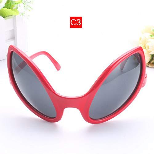 CCGKWW Brille Lustige Alien Eyes Sonnenbrille Männer Kostüm Maske Neuheit Brille Frauen Party Supplies Geschenk
