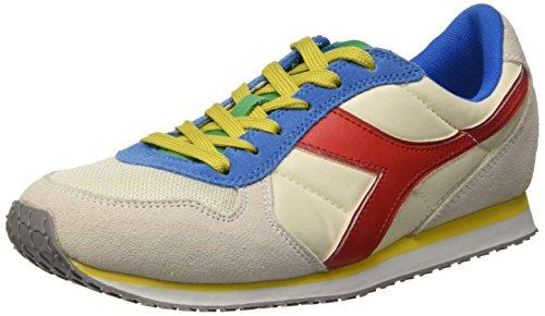 Diadora K_Run, Scarpe da Corsa Unisex Adulto Multicolore (C6073 Gr. Alaska/Giallo Vibr/Rosso F)