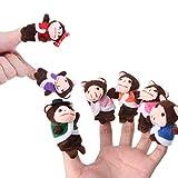 WDTong 7 Stücke Cartoon Finger AFFE Puppen Puppen Set Baby Jungen Mädchen Geschichtenerzählen Hand Puppe Lernspielzeug