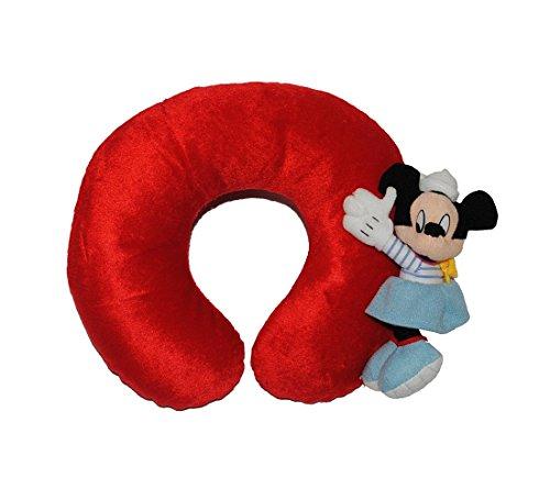Preisvergleich Produktbild DISNEY Nackenrolle mit 3-D MINNIE MOUSE - Kissen Maus ROT Nacken NACKENKISSEN Nackenhörnchen NACKENROLLE für Kinder