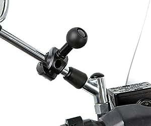 UltimateAddons Support Rétroviseur Scooter Mobylette Avec Fixation Rotule 25mm