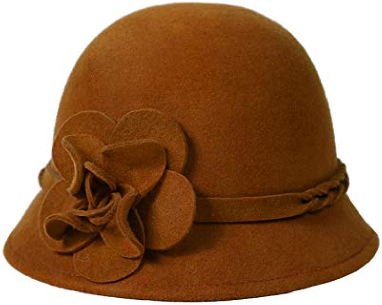 Yukun Cappello berretto Cappello Yukun A Cilindro da Donna Autunno-Inverno Cappello  da Pescatore Elegante Fiore Vintage Cappello... Parent 34ce1d 0eb0d4937fec