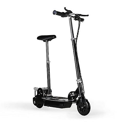 Electronic Star V8 E-Scooter Elektroroller (Kinder & Erwachsene, 120 Watt Elektro-Motor, 16km/h Höchstgeschwindigkeit, 2 Bremsen, 6 bis 8 Stunden-Akku-Betrieb, 16km Reichweite) schwarz