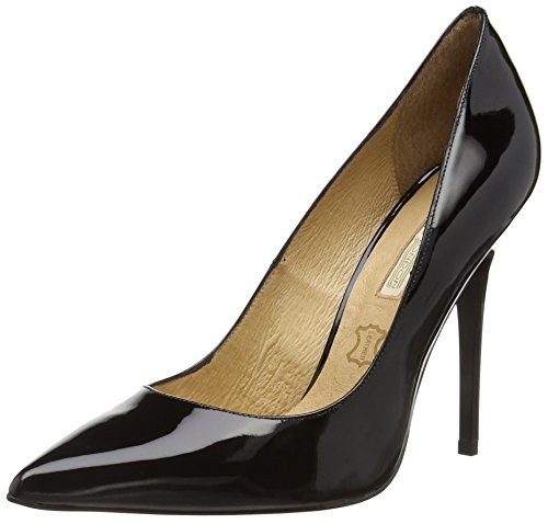 Buffalo London 11335X-269 PATENT LEATHER, Decolleté chiuse donna, Nero (nero (black 01)), 36