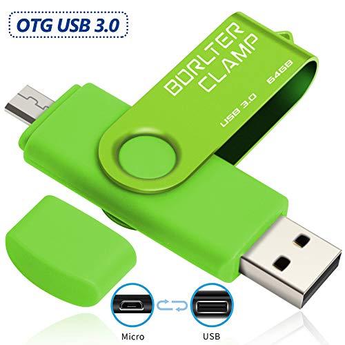 BorlterClamp 64GB OTG USB-Stick Speicherstick Dual USB