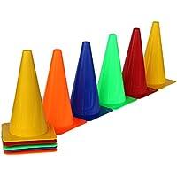 Set de 10 conos de colores de 30 cm de alto. Cono de material plástico, en 5 colores diferentes.