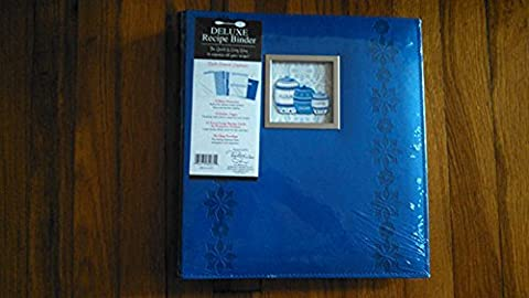 C.r. Gibson Deluxe Recipe Binder - Dark Blue by C.R. Gibson
