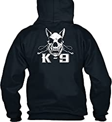 teespring Men's Novelty Slogan Hoodie - K-9 Handler Training T-Shirt
