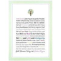 Taufe Geschenk Mädchen: Personalisiertes Bild (A4 Kunstdruck) - personalisierte Taufgeschenke für Taufpaten | Gastgeschenk Patenkind, Geschenke von Paten | Taufgeschenk Baby