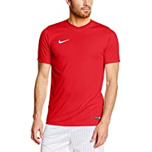 Nike Park VI, Camiseta de Manga Corta para hombre, Rojo (University Red/White), S