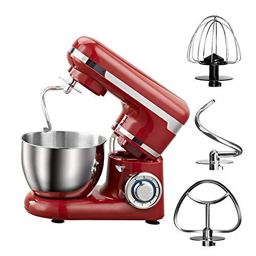 NOBLJX Elektrische Küchenmaschine, 1200 W 6-Fach Verstellbarer 4-L-Schüssel-Teigmixer Mit Spritzschutz Und 3 Rühraufsätzen Für Das Backen Von Kuchen Mit Schneebesen (Automatische Bäckerei-maschine)