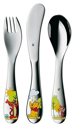 WMF Disney Winnie the Pooh - Cubertería para niños 3 piezas (tenedor, cuchillo de mesa y cuchara) (WMF Kids infantil)