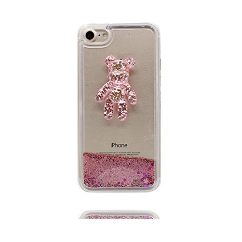 iPhone 6s Plus Custodia, Glitter Glitter stelle Flowing / Case trasparente della protezione del gel TPU Copertura per iPhone 6S Plus / 6 Plus (5.5 pollici) / Cover Cartoon 3D orso COLOR 4