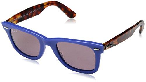 Ray-Ban Unisex-Erwachsene 0RB2140 1241W0 50 Sonnenbrille, Blue/Violetpolar