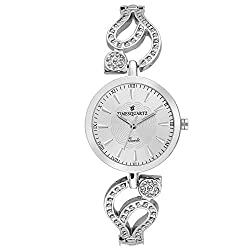 Timesquartz Stylish Womens Watches Big Dial - Analogue Watch for Women - Silver