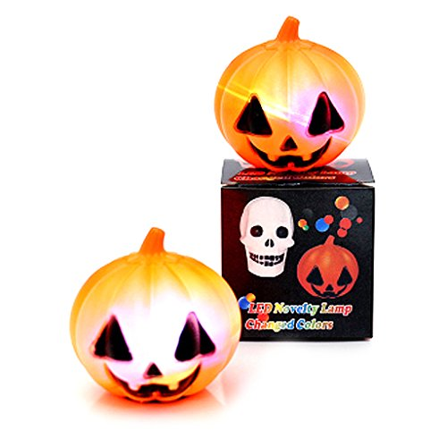 JAGENIE Halloween-Zubehör Gruselige Kreative Kürbis-Laterne Dekoration, Hängeornamente Halloween-Zubehör, Plastik, 1, Reference Picture or Product Description