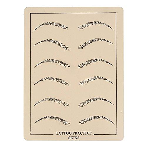 Beauty7 Maquillage Faux Peaux Exercice Pratique de Tatouage Permanent Sourcils Cosmetique
