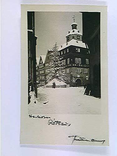 Herborn, Rathaus, Winter, Weihnachtsbaum, AK, ungelaufen, ca. 1950