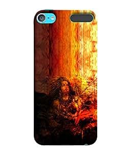 PrintVisa Designer Back Case Cover for Apple iPod Touch 6 :: Apple iPod 6 (6th Generation) (Shiva Artistic Design )