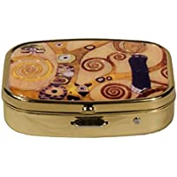 Fridolin 18282Klimt Thuya 5.1x 12x 6cm, mehrfarbiges Metall Pillendose preisvergleich bei billige-tabletten.eu