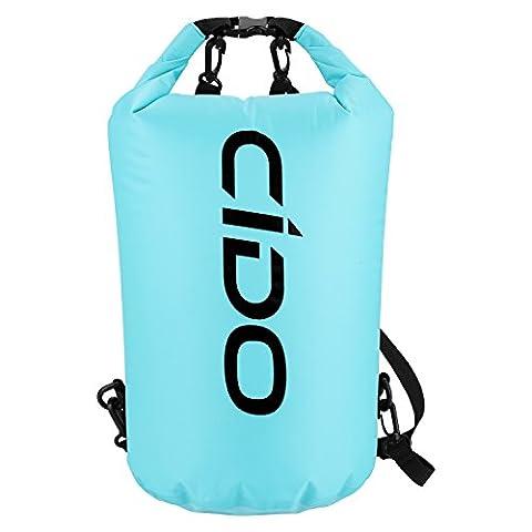 Cido Waterproof Dry Bag, 15L Waterproof Floating Dry Bags for Boating, Kayaking, Fishing, Rafting, Swimming, Camping and Snowboarding